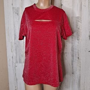 One step up plus  Sparkly shirt red size 1X